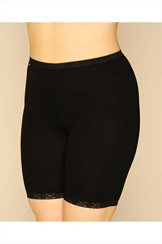 Briefs Knickers SLOGGI Black Basic Long Length Briefs 014076