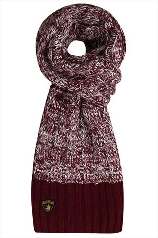 SANTA MONICA Burgundy Knitted Scarf
