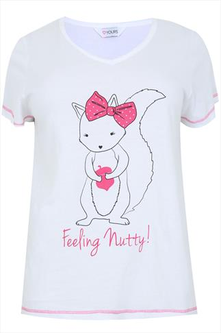 "White Squirrel ""Feeling Nutty"" Pyjama Top"