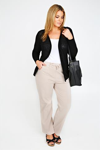Stone Full Length Cool Cotton Trousers 051049