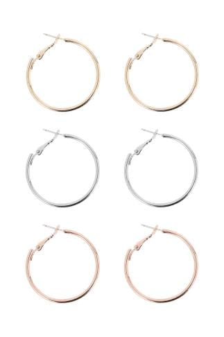Earrings 3 PACK Mixed Hoop Earrings 152183