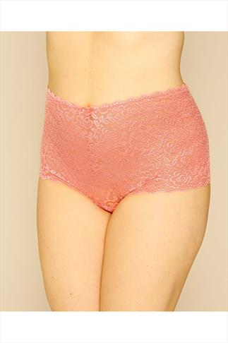 Coral Shine Lace Shorts