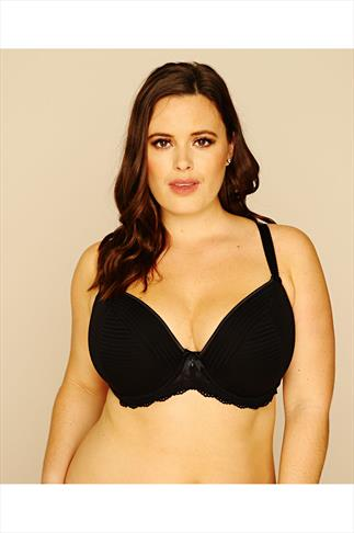 Underwired Bra With Lace Contrast Trim