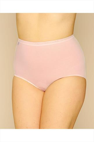 Briefs Knickers SLOGGI 3 PACK Pastel Blue, Pink And Nude Basic Maxi Briefs 014075