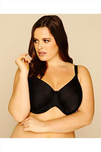 Black Classic Smooth Non-Padded Underwired Bra