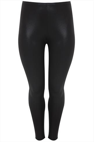 Black Snakeskin Front Leggings