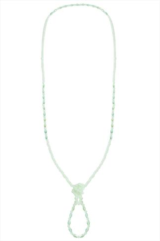 Green Beaded Long Necklace
