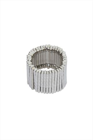 Silver Layer Stretch Ring