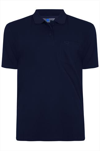 BadRhino Navy Plain Polo Shirt