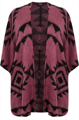 Pink and Black Aztec Wrap