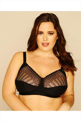 BESTFORM Black Modern Comfort Non-Wired Bra 014056