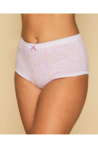 Briefs & Knickers 5 PACK Pastel Ditsy Floral Full Briefs 146052