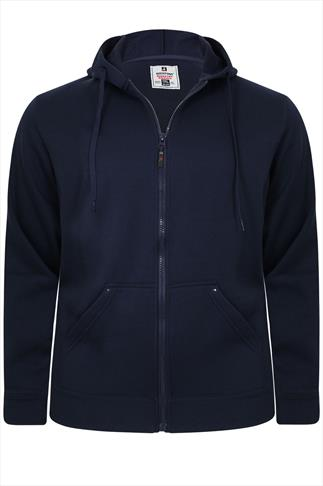 Rockford Navy Zip-up Hoodie