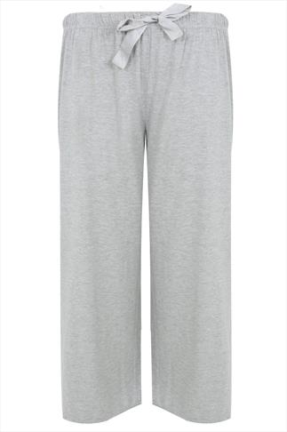 Grey Basic Cotton Pyjama Trousers
