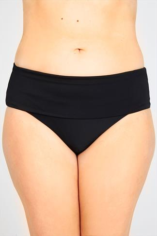 Tankinis Black Fold Over Waist Bikini Brief 054344