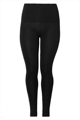 Black TUMMY CONTROL Viscose Elastane Leggings