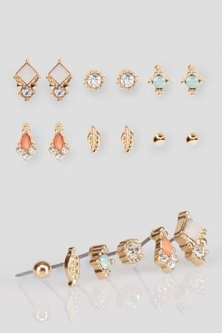 Earrings 6 PACK Assorted Gold Stud Earrings 152091