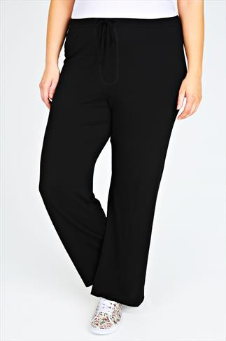 Wide Leg & Palazzo Trousers Black Yoga Pants: A Must Have For Every Wardrobe 037392