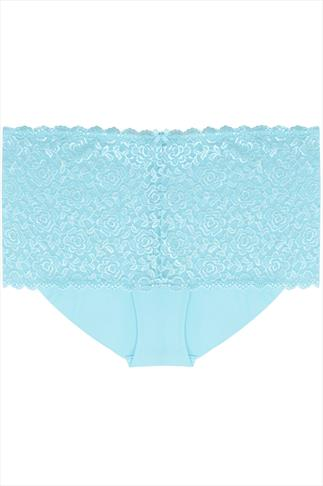 Blue Shine Lace Shorts