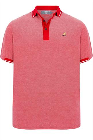 KANGOL Red Short Sleeved Polo Shirt