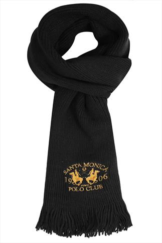 Hats & Scarves SANTA MONICA Black Knitted Scarf With Tassels 057179