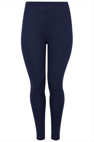 Navy Viscose Elastane Leggings