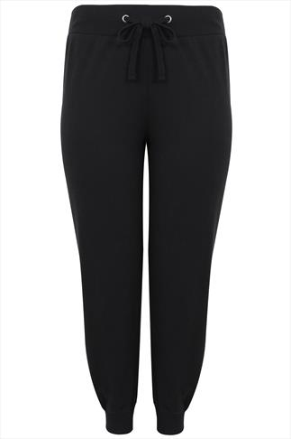 Westrock Bay Black Joggers With Elasticated Waist & Cuff