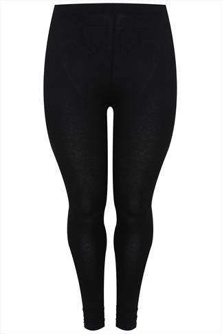 Black Ruched Ankle Viscose Elastane Full Length Leggings