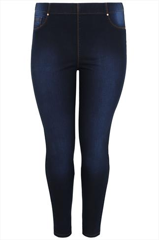 Indigo Blue Denim Shaper Jeggings