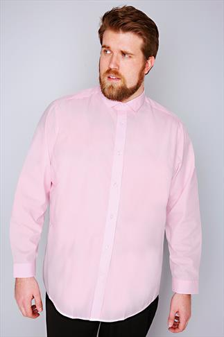 Smart Shirts Slate Grey Pale Pink Formal Long Sleeve Shirt-TALL 054649
