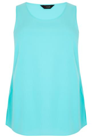 Aqua Blue Sleeveless Top