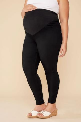 Jeans & Jeggings BUMP IT UP MATERNITY Black Denim Super Stretch Skinny Jeans With Comfort Panel 110521
