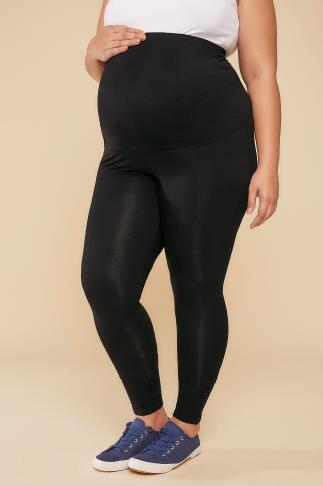 Leggings BUMP IT UP Still Schwarz Viskose Elasthan Leggings mit bequemer Einsatz 158019