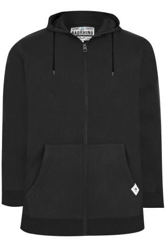 BadRhino Black Basic Sweat Hoodie With Pockets
