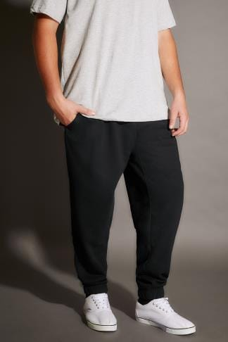 Joggers BadRhino Black Basic Sweat Joggers With Pockets - TALL 200210