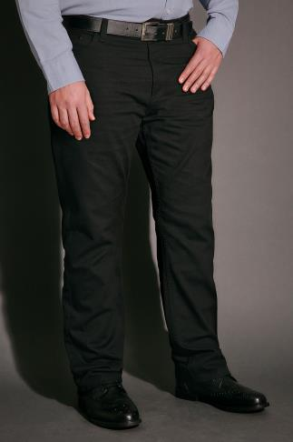 Chinos & Cords BadRhino Black Bedford Cord Trousers 110412