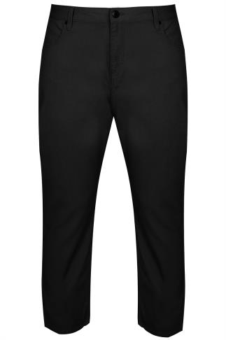 BadRhino Black Bedford Cord Trousers