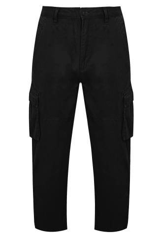 BadRhino Black Cargo Trousers With Utility Pockets