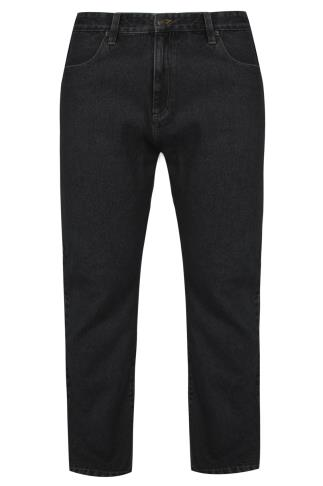 BadRhino Black Stonewash Denim Straight Leg Jeans - TALL