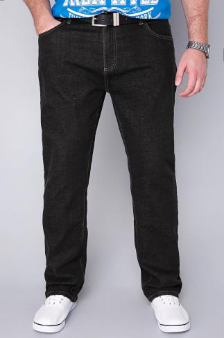 Straight BadRhino Black Denim Straight Leg Jeans 110339