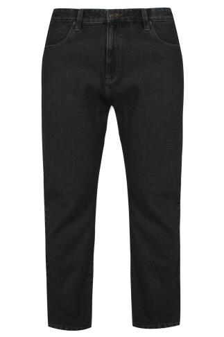 BadRhino Black Denim Straight Leg Stretch Jeans