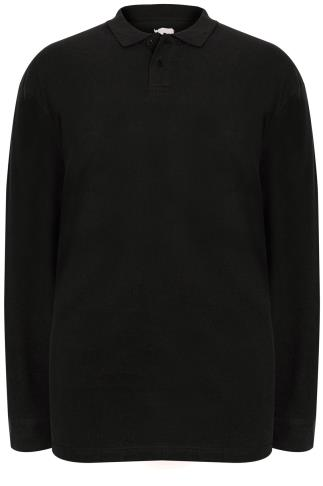 BadRhino Black Long Sleeve Polo