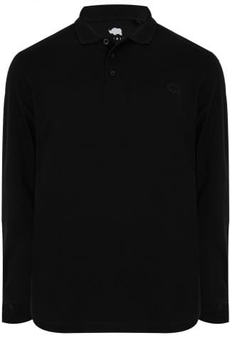 BadRhino Black Long Sleeve Polo Shirt
