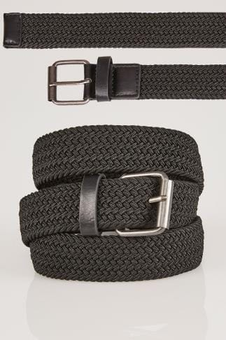 BadRhino Black Stretch Woven Belt