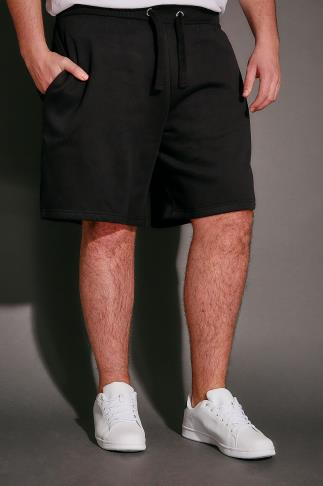 Jersey Shorts BadRhino Black Basic Sweat Shorts With Pockets 110476