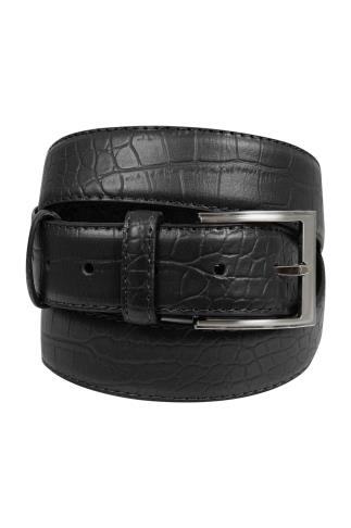 Belts & Braces BadRhino Black Textured Bonded Leather Belt 110447