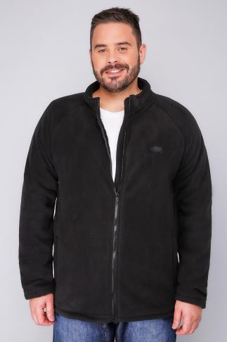 Fleece BadRhino Black Zip Through Bonded Fleece 110107