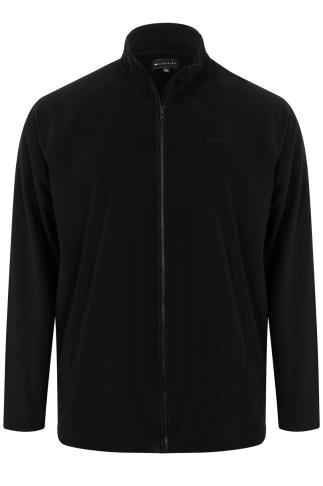 BadRhino Black Zip Through Bonded Fleece