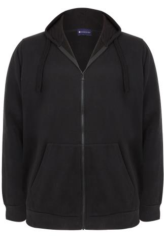 BadRhino Black Zip Through Hoodie