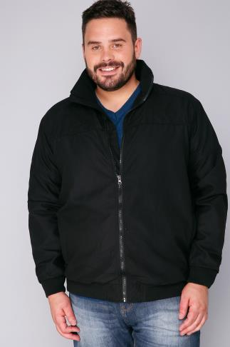 Jackets BadRhino Lightweight Black Unpadded Zip Up Bomber Jacket 100346